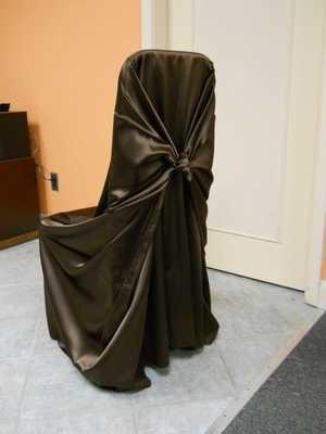Satin Chair Wrap (Brown)