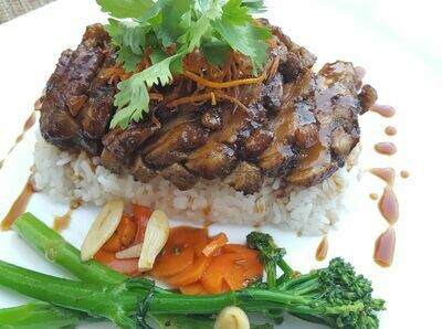 (VIT NUONG) Rice Plate With Grilled Duck Breast & Yakitori Sauce