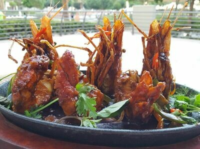 (TOM CANG NE) Sizzling King Prawns