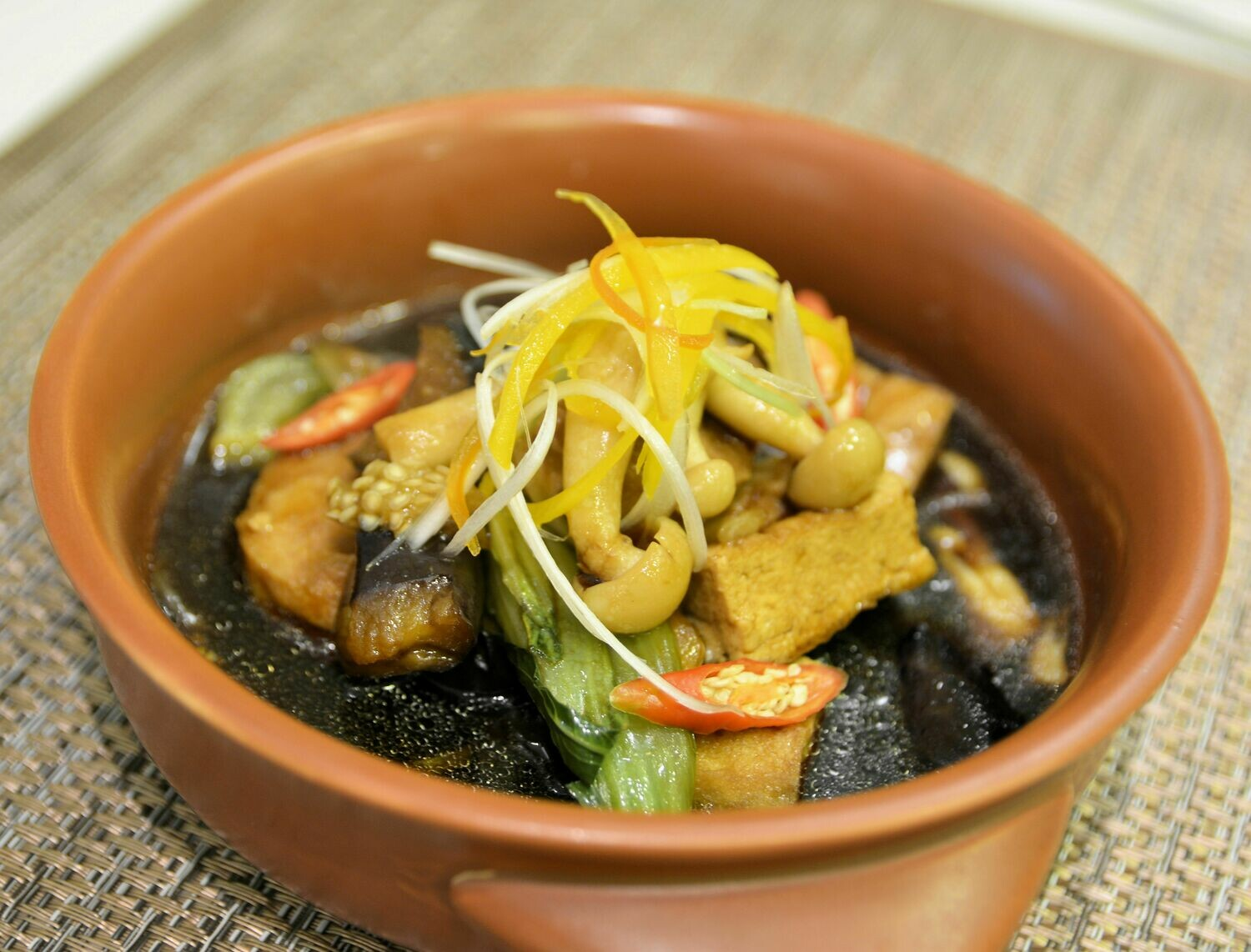 (Dau Om Ca Tim) Tofu & Eggplant in Clay Pot with Rice