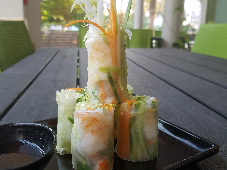 (GOI CUON TOM) Vietnamese Fresh spring Rolls