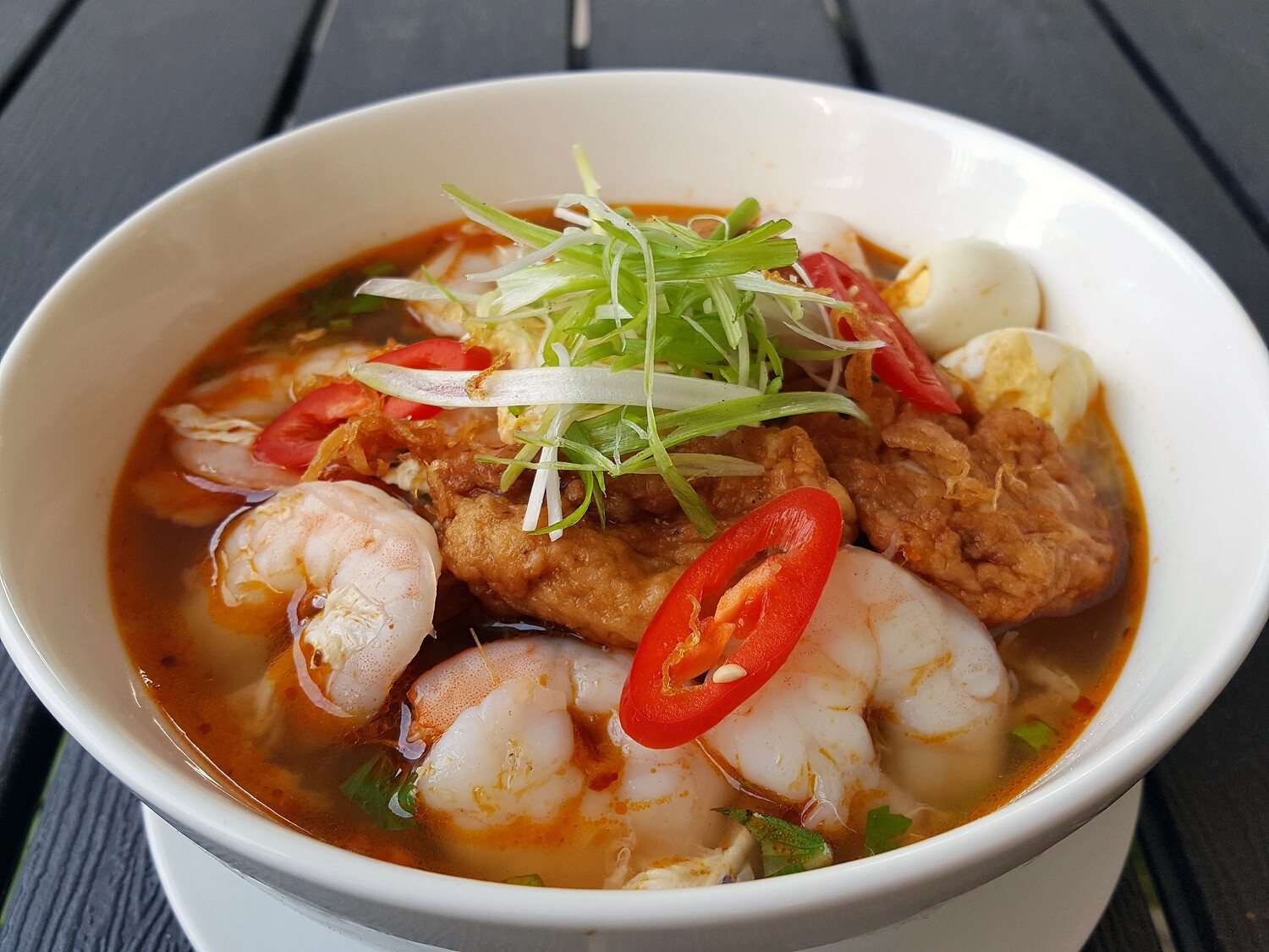 (BANH CANH)  Vietnamese Thick Noodle With Fish Cake/ Crab Cake