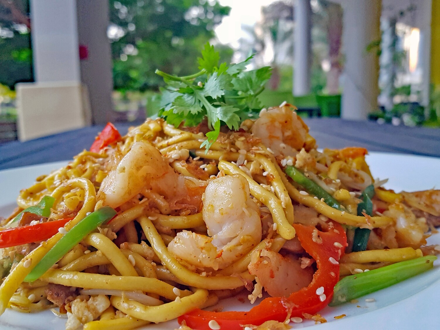 (MI YAKI SOBA TOM GA) Yaki Soba Noodle With Chicken & Prawns (kid's portion)