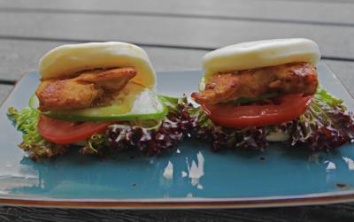 Hirata Steamed Bun With Grilled Chicken