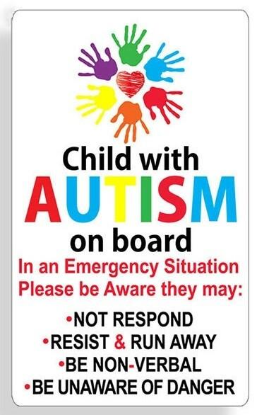 2 x Autism Car Stickers / Decals