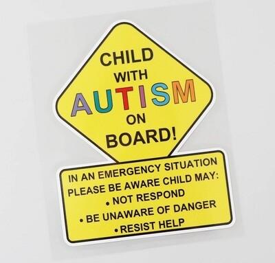 2 x Car Stickers / Decals, Autism & Special Needs