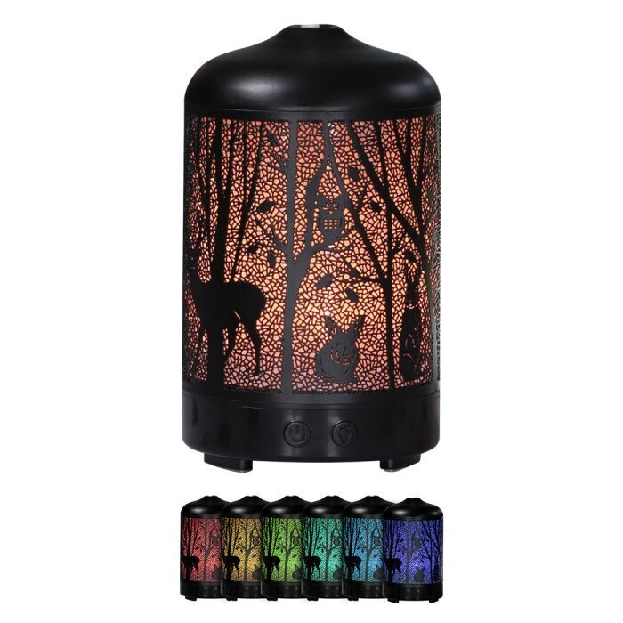 Aroma Diffuser Aromatherapy Ultrasonic Oil Humidifier + Diffuser + Nightlamp