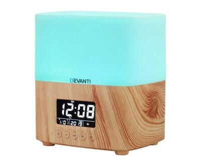 Devanti Aroma Diffuser Aromatherapy Humidifier Essential Oil Clock