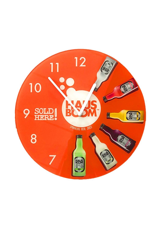 Hausboom Glass Wall Clock