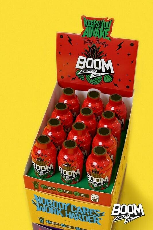 Pack of 12 (One Carton) | Boom Energy Shot 60ml