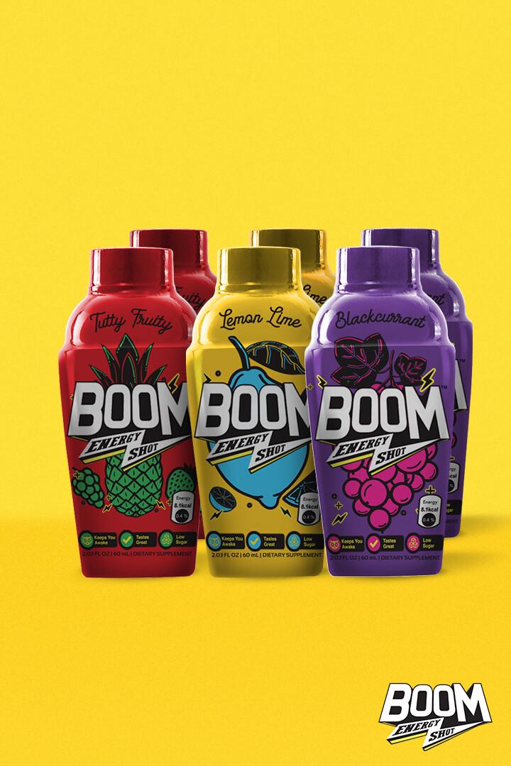 Pack of 6 | Boom Energy Shot 60ml