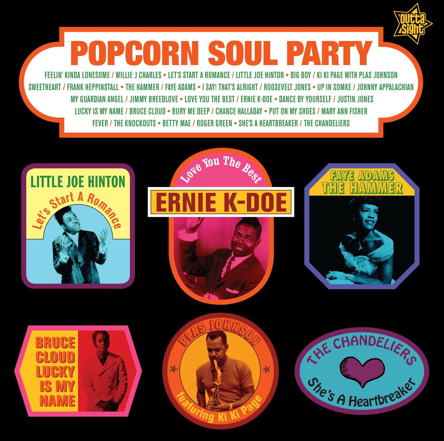 POPCORN SOUL PARTY Blended Soul And R&B 1958-62