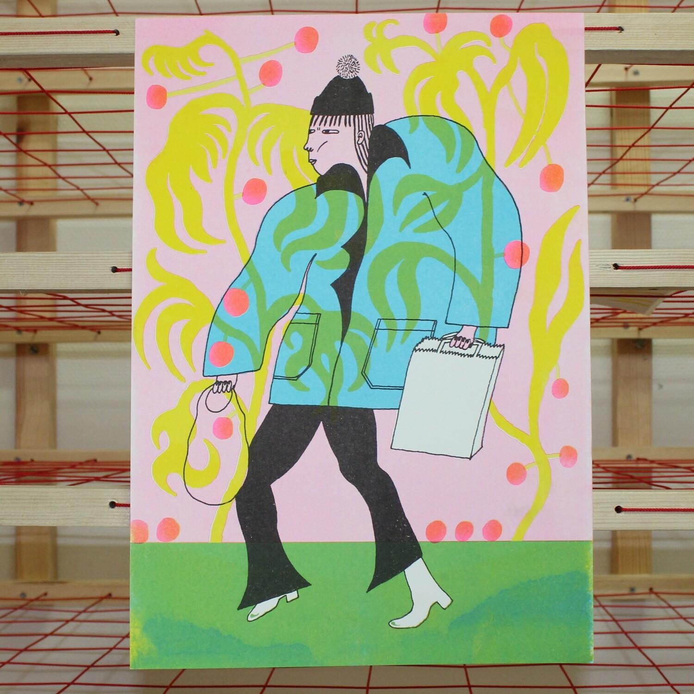 Shop Girl A3 Poster
