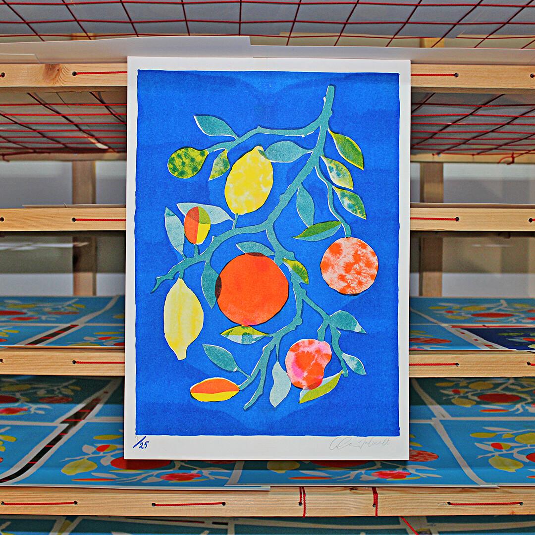 Citrus in Blue