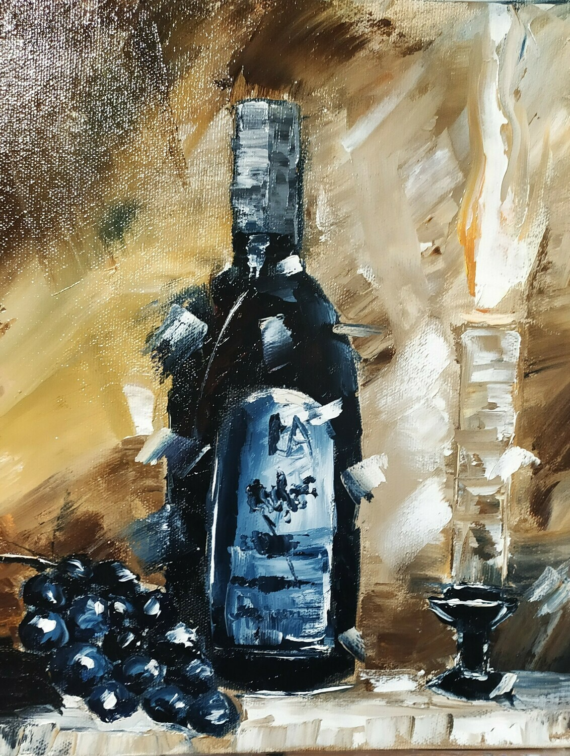Candlelight Still Life Oil Painting Gift Idea Decor For Home 2019