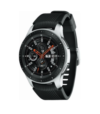 Samsung Galaxy 46mm Watch - Silver with Black Strap