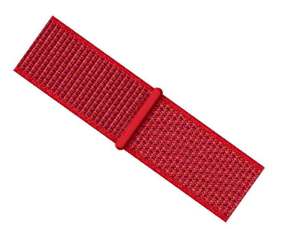 24-44mm  Nylon Sport Loop Strap Band for Y7 Watch - Red