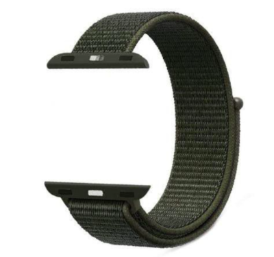 24-44mm  Nylon Sport Loop Strap Band for Y7 Watch - Black