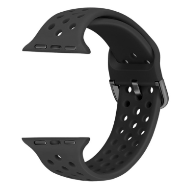 24-44mm Silicon Strap Band for Y7 Watch - Black