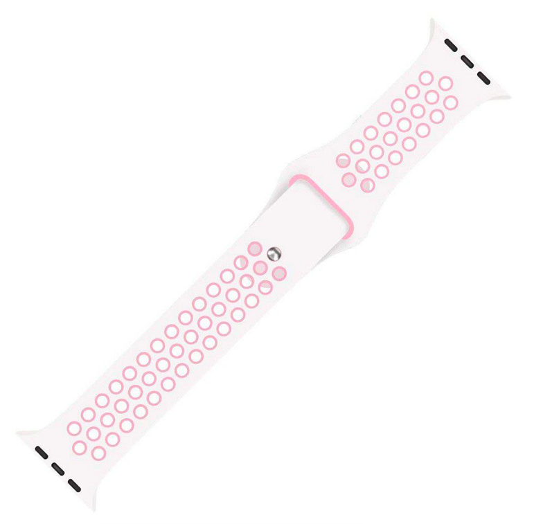 24-44mm Silicon Strap Band for Y7 Watch - White/Pink