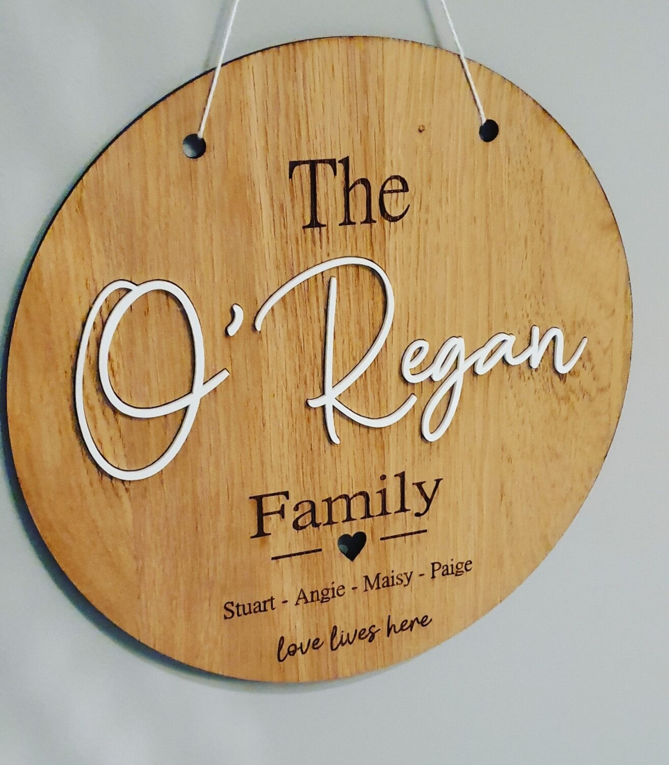 3D Family Wall Sign