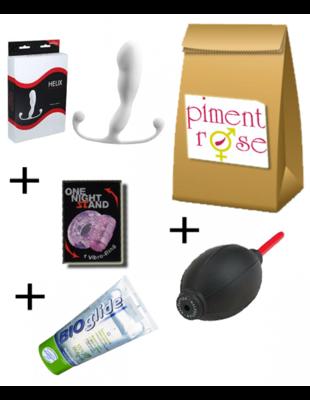 PACK Economique Aneros Helix TRIDENT avec douche anale, gel lub et cockring
