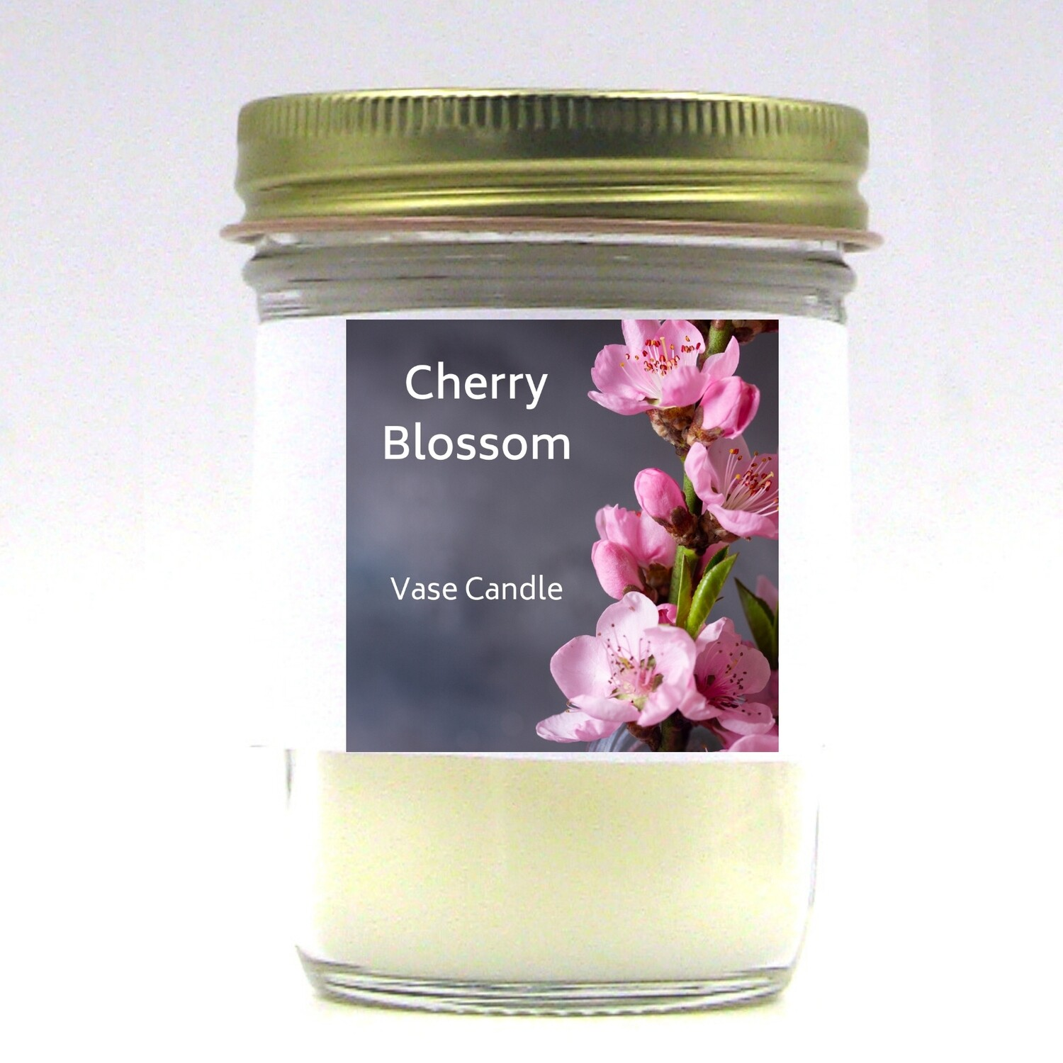 Cherry Blossom Vase Candle Jar