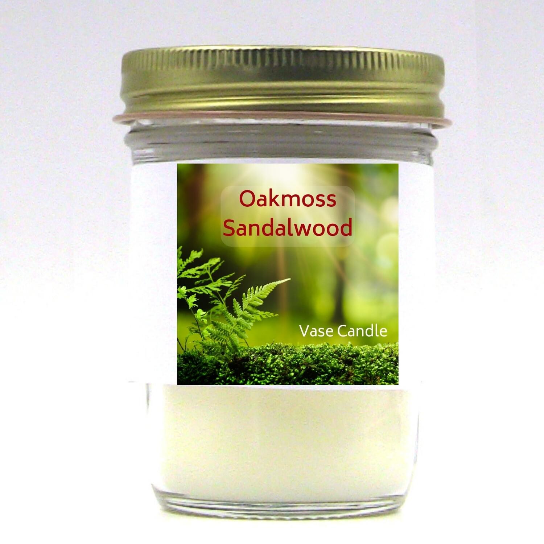 Oakmoss Sandalwood Vase Candle Jar