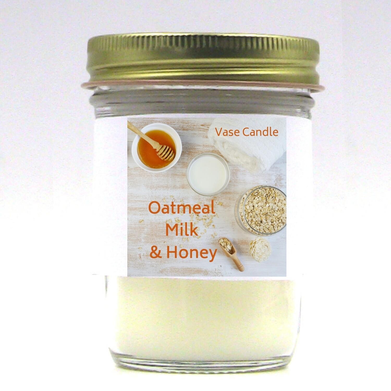Oatmeal, Milk & Honey Vase Candle Jar