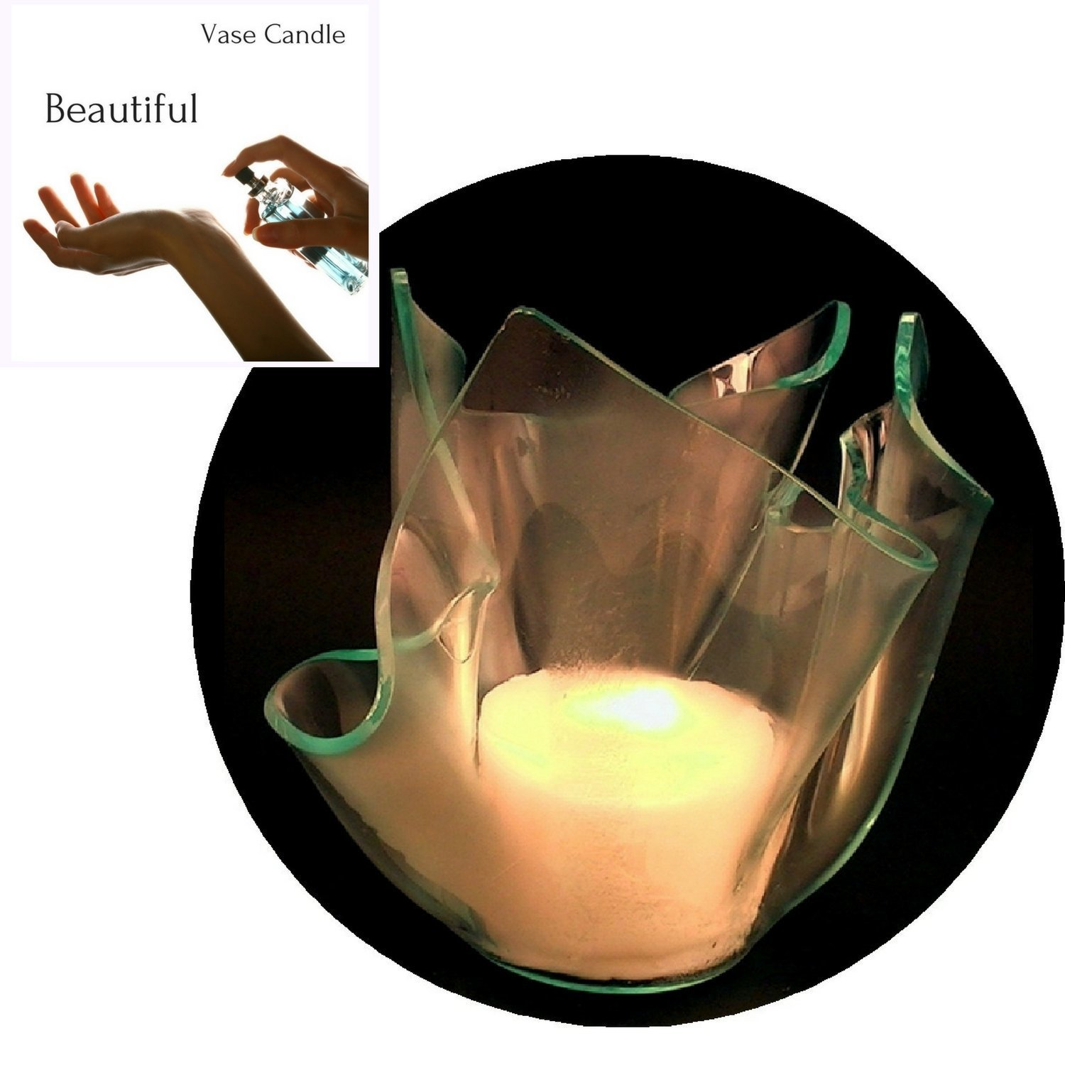 3 Beautiful Candle Refills | Clear Satin Vase