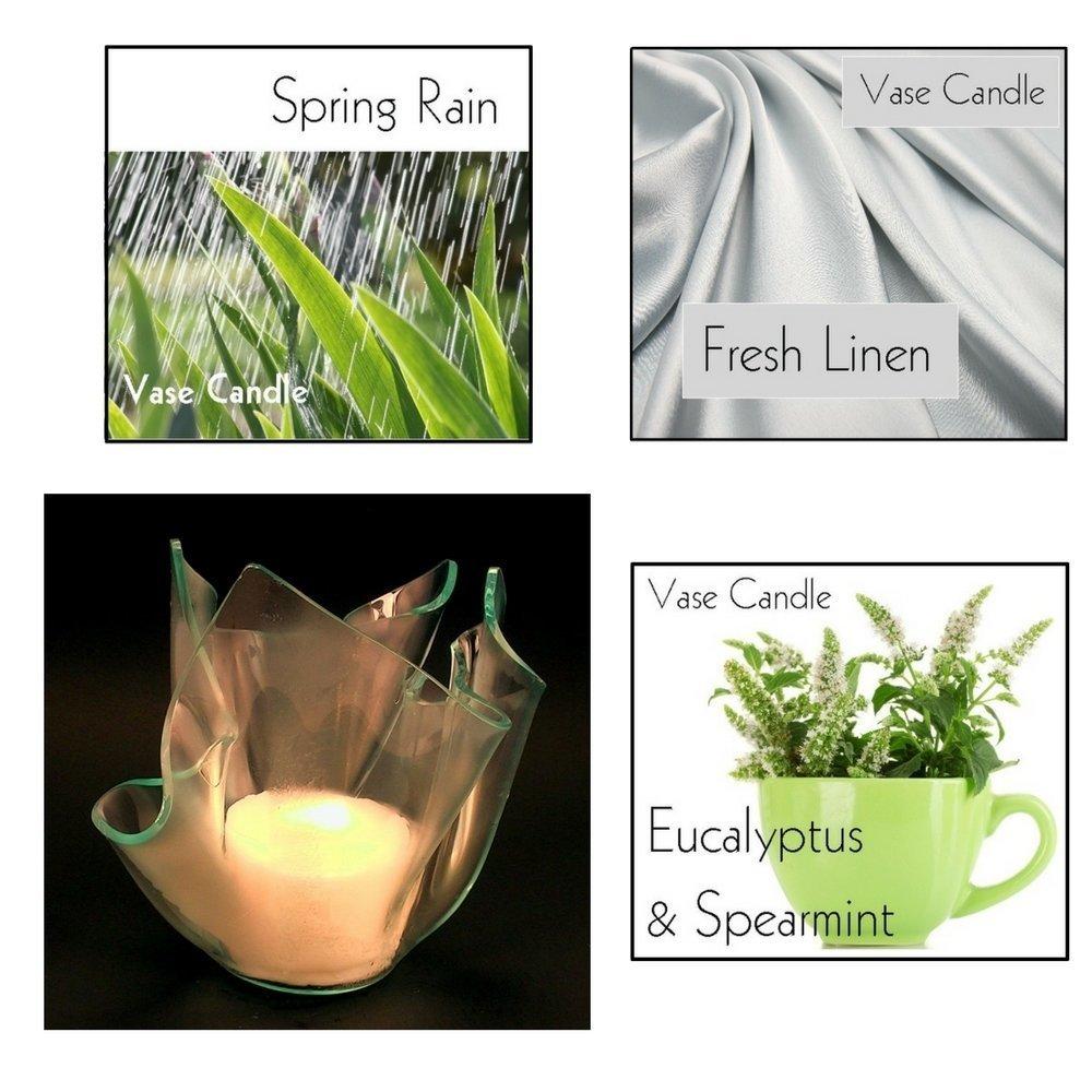 Fresh Candle Combo | Spring Rain, Fresh Linen and Eucalyptus & Spearmint Candles