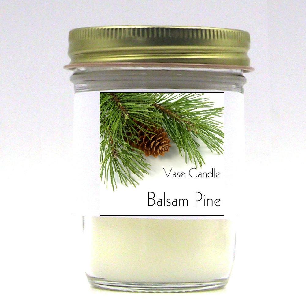 Balsam Pine Vase Candle Jar