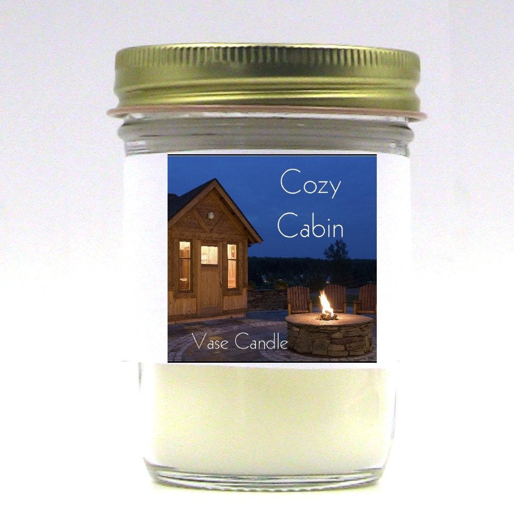 Cozy Cabin Vase Candle Jar