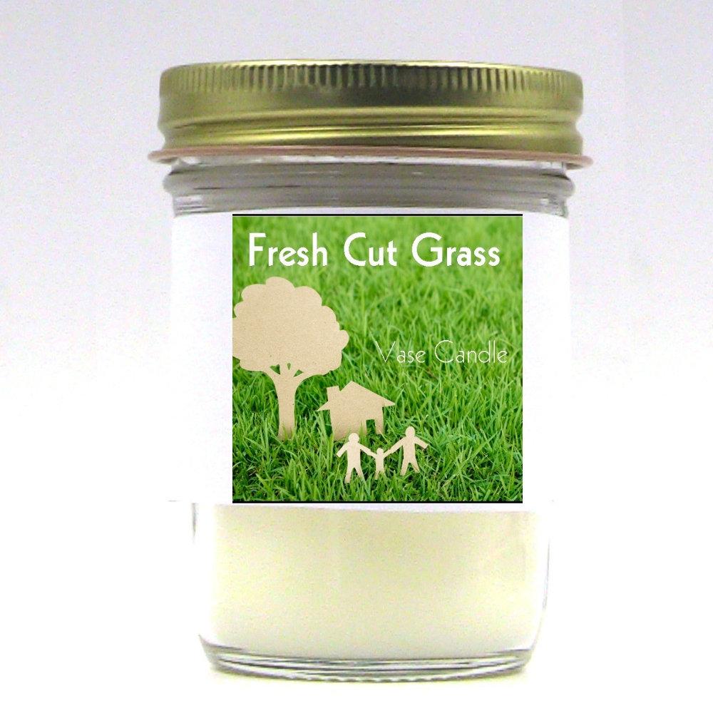 Fresh Cut Grass Vase Candle Jar