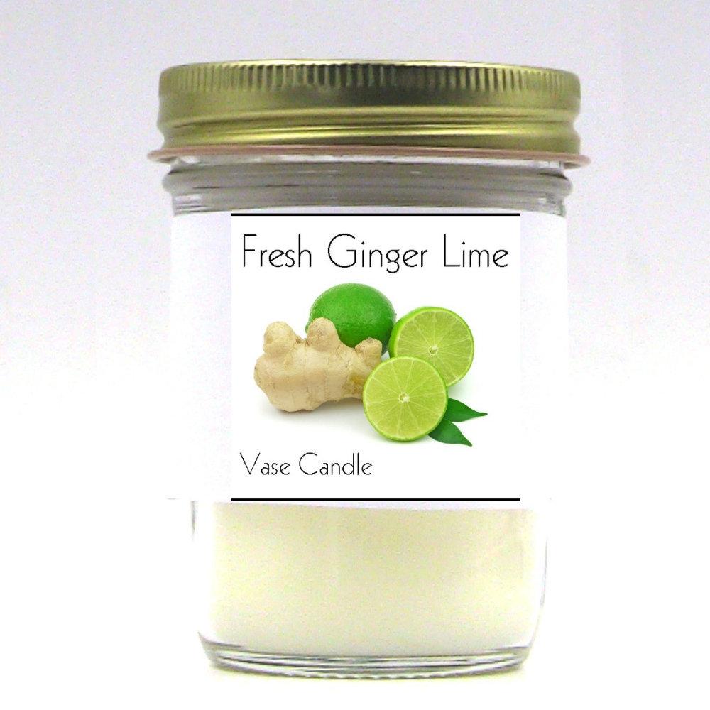 Fresh Ginger Lime Vase Candle Jar