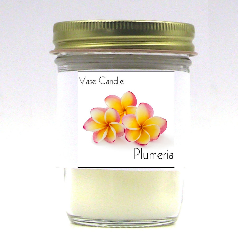 Plumeria Vase Candle Jar