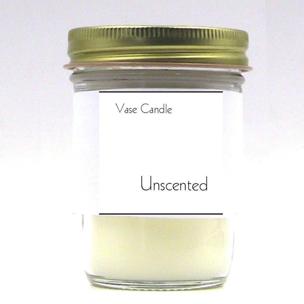 Unscented Vase Candle Jar