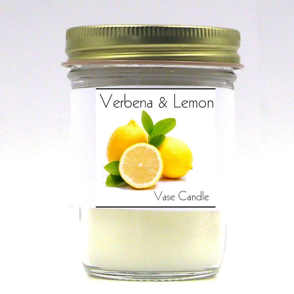 Verbena and Lemon Vase Candle Jar