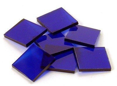 Cobalt Blue Cathedral Fusible - Half Package