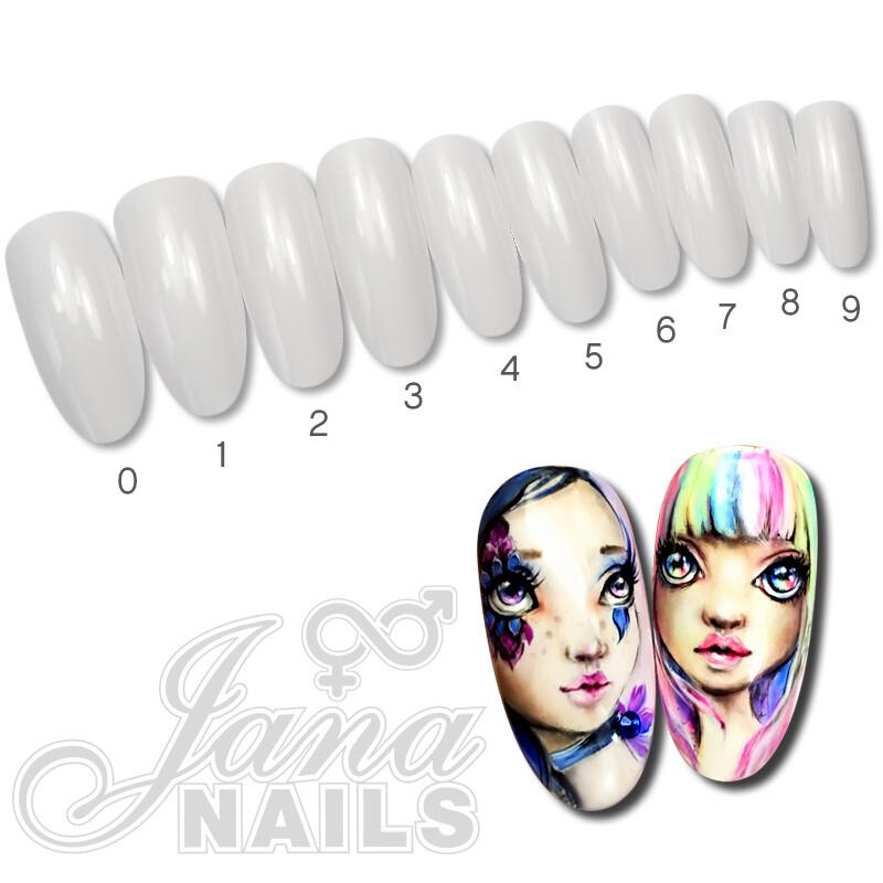 tips nail art taille 0-9 500 pcs