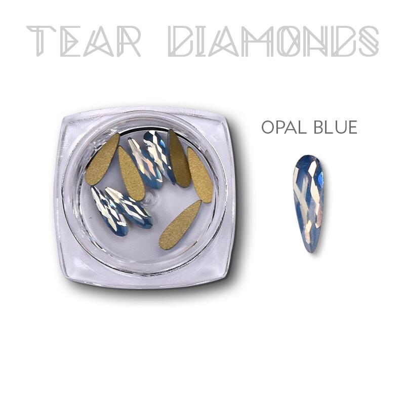 tear diamond opal blue 10 pcs