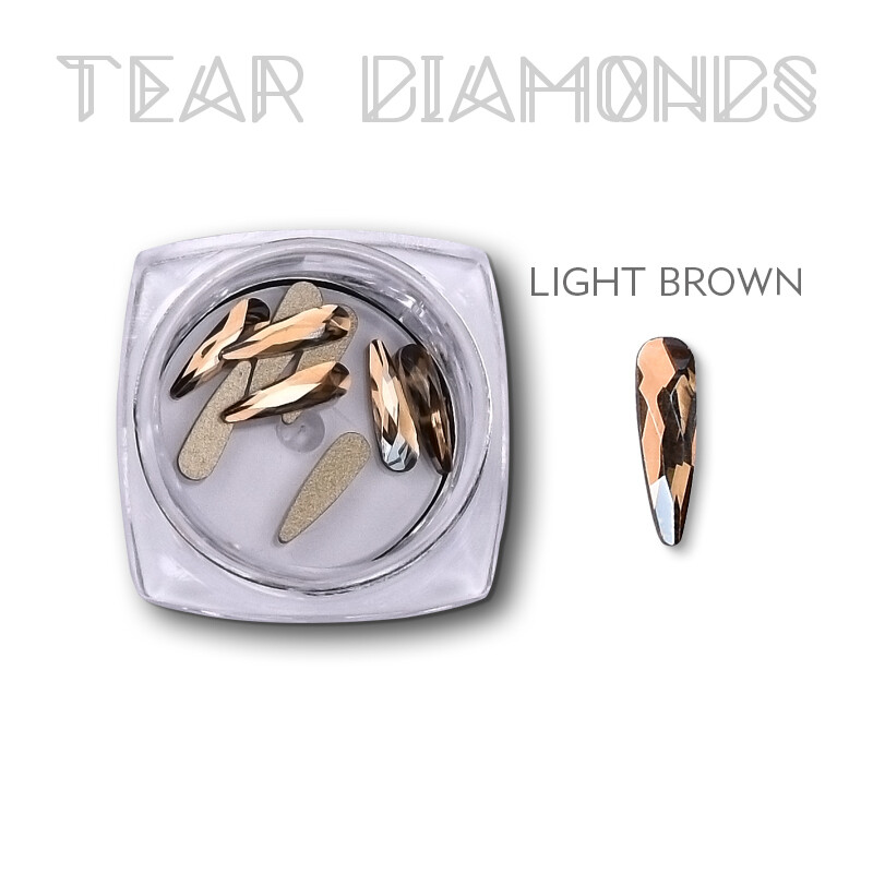 tear diamond light brown 10 pcs
