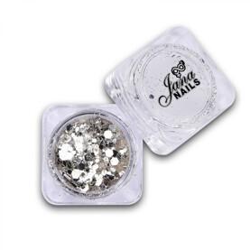 extreme confetti silver Jana Nails