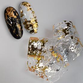 mesh foils gold Jana Nails