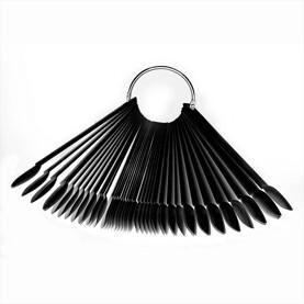 nuanciers anneaux forme amande noir