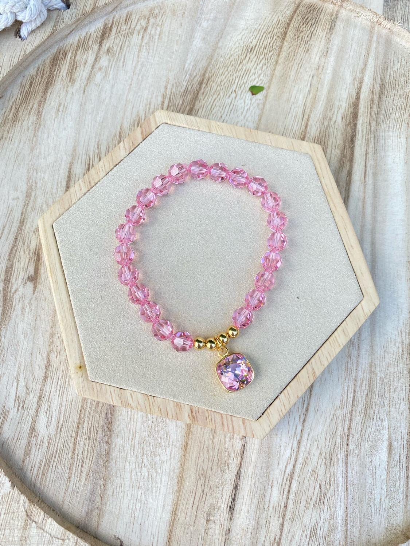 Bracelet Swarovski «pink»