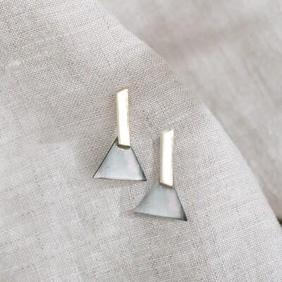 Triangle Abalone Shell Earrings