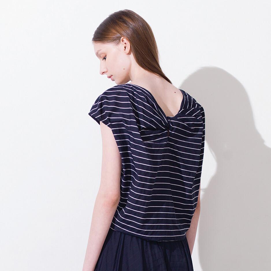Knot Details Stripes 2-way Top