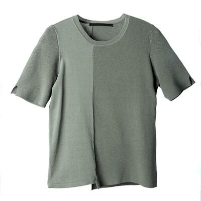 Slit Sleeve Multi-Textured Knit Top