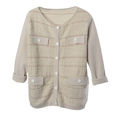 Tweed Stitch Little Jacket